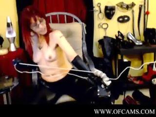 dom performs cbt on bondman thru webcam part 10