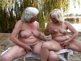 delightful lesbo grannies fervent twat pleasure