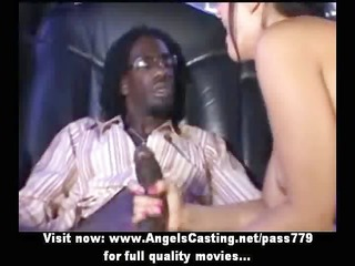 outstanding hot blond does oral-service for afro