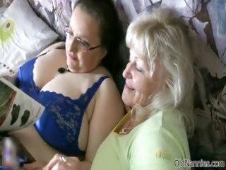 lewd granny loves having lesbo sex part5