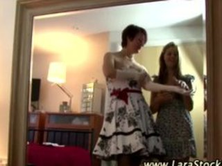 aged stocking lesbo foreplay