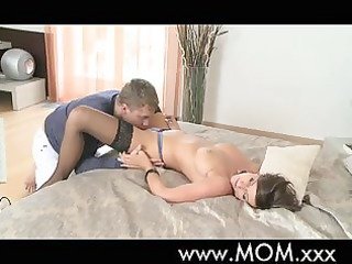 mom wife milf sees to her business