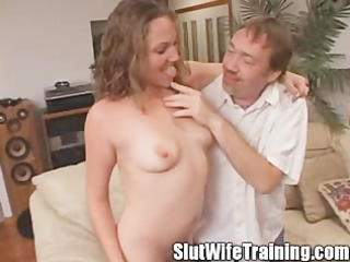 young bitch wife eats her creampie