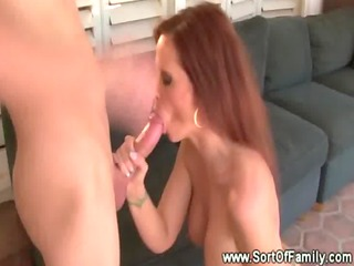this bitch gets filled by her step son i their