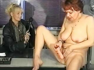 german interviewer helps milf masturbate video