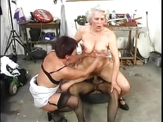 hairy old grannys have pleasure with a cock