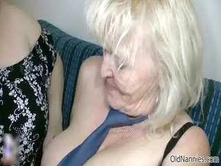 ribald golden-haired granny loves fucking a fat