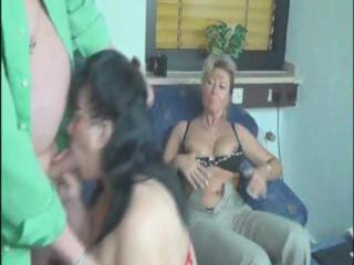 big mature women share this old chaps cock and