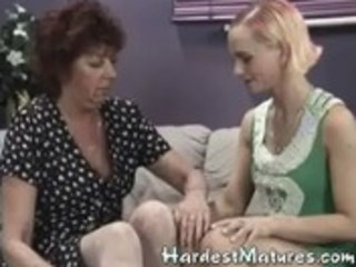 granny goes lesbo with hawt mother i