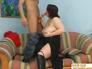 mature big beautiful woman with dark boots
