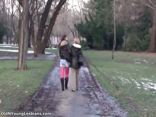 old and youthful lesbians making out part10