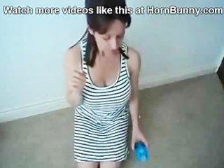 mom puts a condom on her son - hornbunny.com