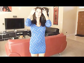 chica - blue dress handjob