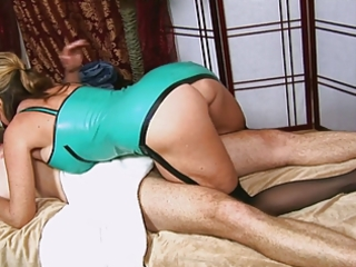 boy gets a handjob from hot mommys