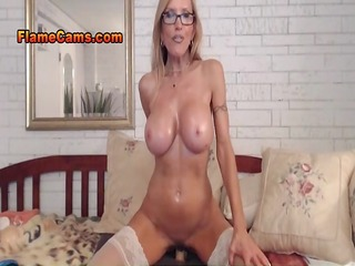 breasty aged babe webcam show