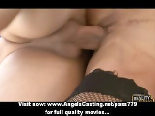 outstanding dark brown milf does blowjob and