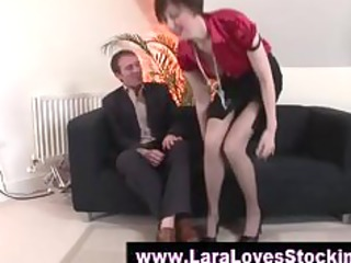 nylons aged lady in high heels