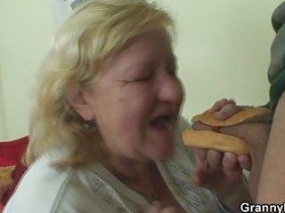 nice hot-dog for chunky granny