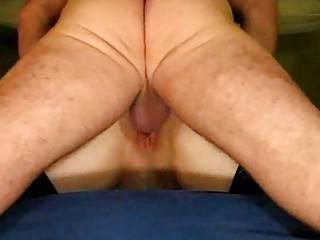 older couple garter butt lick creampie