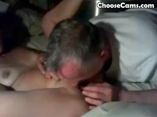 grandpapa giving grandma great oral sex