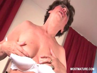 undressed bitchy mature masturbating her unshaved