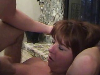 breasty redhead momma in black nylons acquires