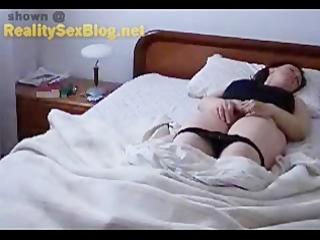 wife caught masturbating