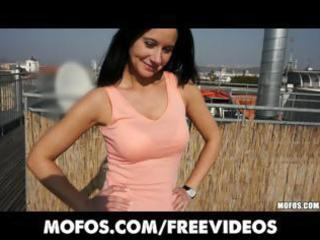 brunette milf receive picked up at the outdoor