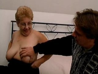 corpulent old mommy with large tits can sucking