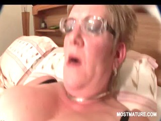 hawt older in stockings self fucking with a sex