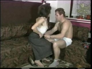 slim milf with tiny droopy tits receives drilled