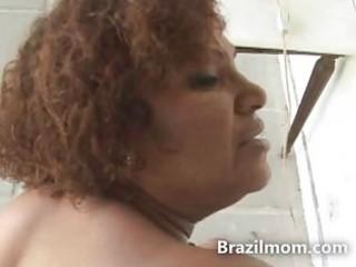 brazilian booty milf fucked hard by a big dark