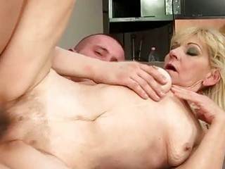 granny with hirsute pussy getting drilled