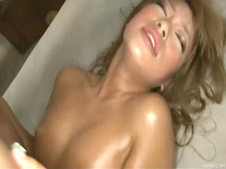 cute and sassy rumikas hairy pussy fingered