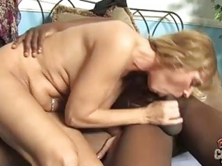 blonde momma with big happysacks sucking large