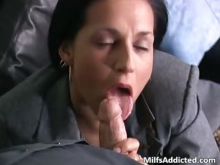 slutty brunette d like to fuck secretary acquires