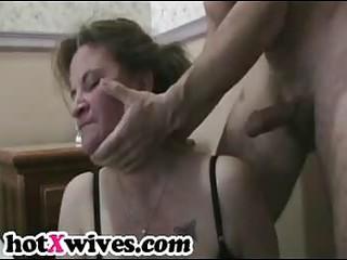 lewd ex wife receives coarse throat fuck