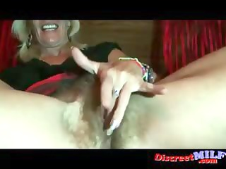 mature milf show her hairy vagina