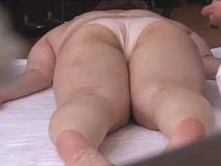 horny japanese wives massaged and then fucked at