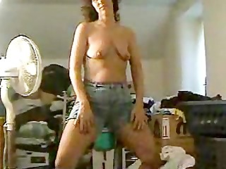 housewife undressing and posing