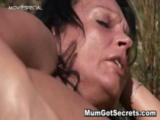 horny milf gets fucked hard outdoor part8
