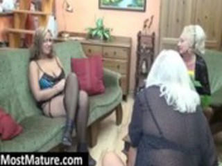 mother i teasing a lesbo granny