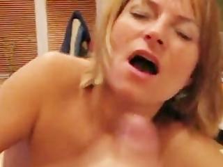 milf handjob and facial cumshot