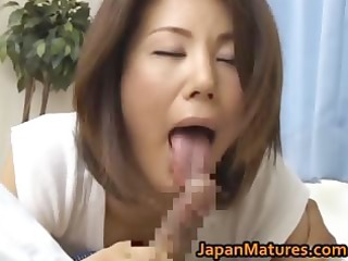 horny aged mio fujiki goes wild for