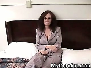 nasty brunette milf with big boobs blows part1
