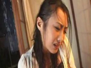 juc7117-wet rain dress beauty wife provoke desire