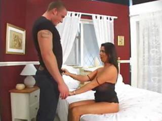 brunette milf with massive love muffins receives