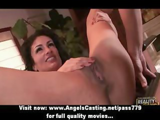 busty brunette d like to fuck does oral sex and