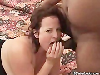 bbw wife enjoys 3 schlongs while hubby is taping