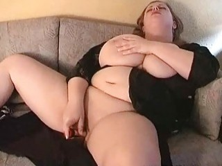 hot large breasted milf fatty masturbates on the